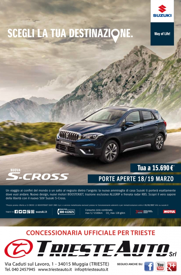 PORTE APERTE 18 e 19 MARZO S-CROSS - TRIESTE AUTO